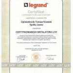 Certyfikat instalatora LCS